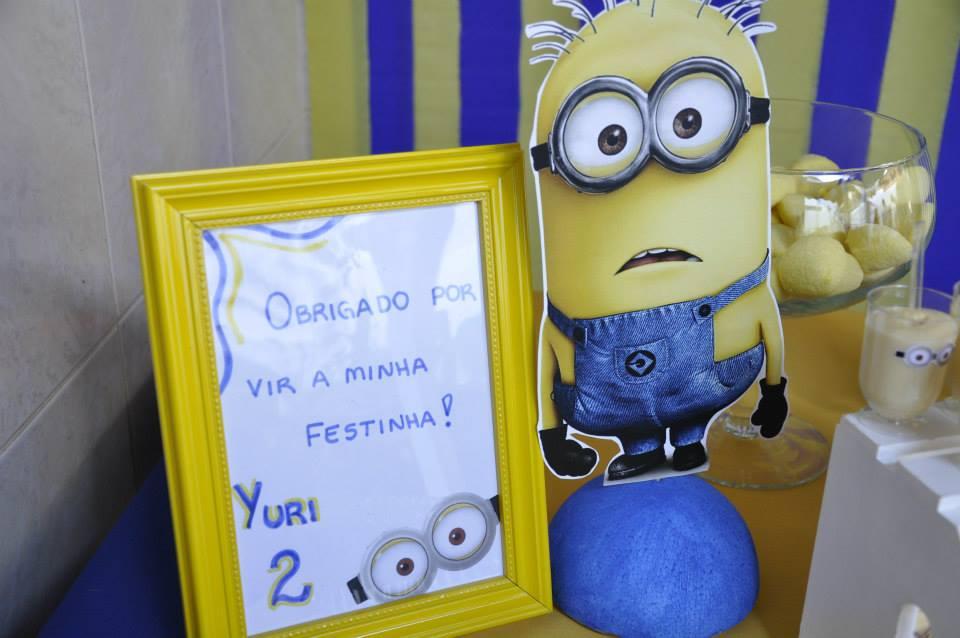 decoracao festa minions : decoracao festa minions:Festa Minions feita em casa – Os 2 anos do Yuri